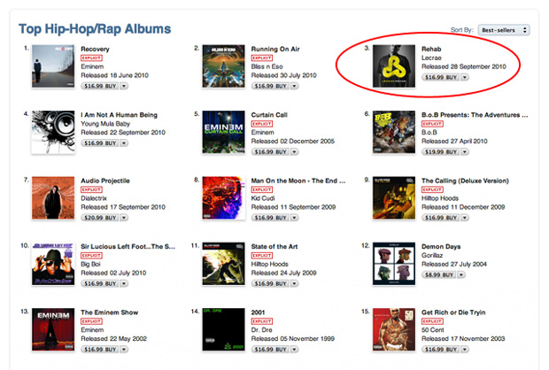 Lecrae #3 in iTunes Hip Hop Albums - Definition Radio